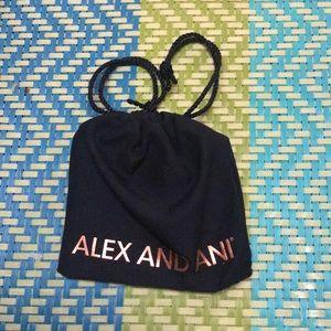 Alex & ani bracelet initial S